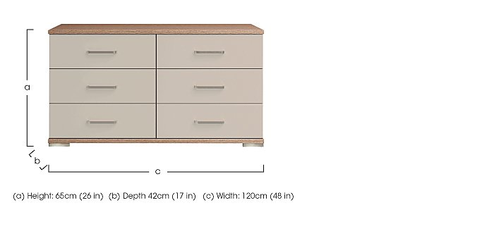 Cordoba 6 Drawer Chest in  on Furniture Village