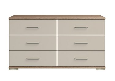 Cordoba 6 Drawer Chest in Ckmv King Oak/Moonlight Gloss on FV