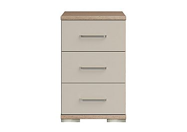 Cordoba 3 Drawer Narrow Chest in Ckmv King Oak/Moonlight Gloss on FV
