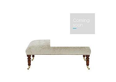 Windsor Fabric Footstool in Champagne Castle Velvet on FV