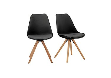 Espen Pair of Dining Chairs in Black on FV