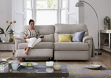 Watson 2 Seater Fabric Recliner Sofa in  on FV