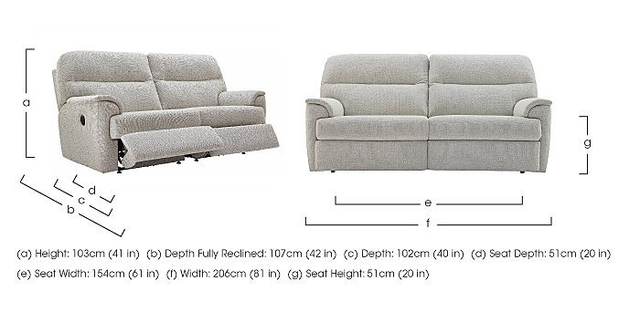 Watson 3 Seater Fabric Recliner Sofa in  on FV