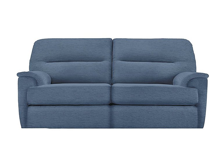 Watson 3 Seater Fabric Recliner Sofa in A086 Boucle Denim on FV