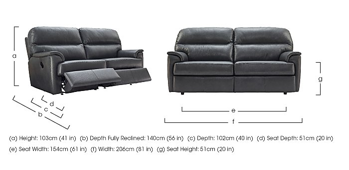 Watson 3 Seater Leather Recliner Sofa in  on Furniture Village