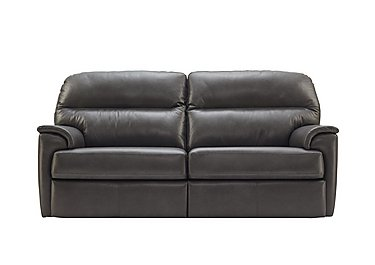 Watson 3 Seater Leather Recliner Sofa in N834 Dallas Slate on Furniture Village