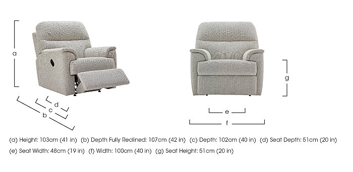 Watson Fabric Recliner Armchair in  on FV
