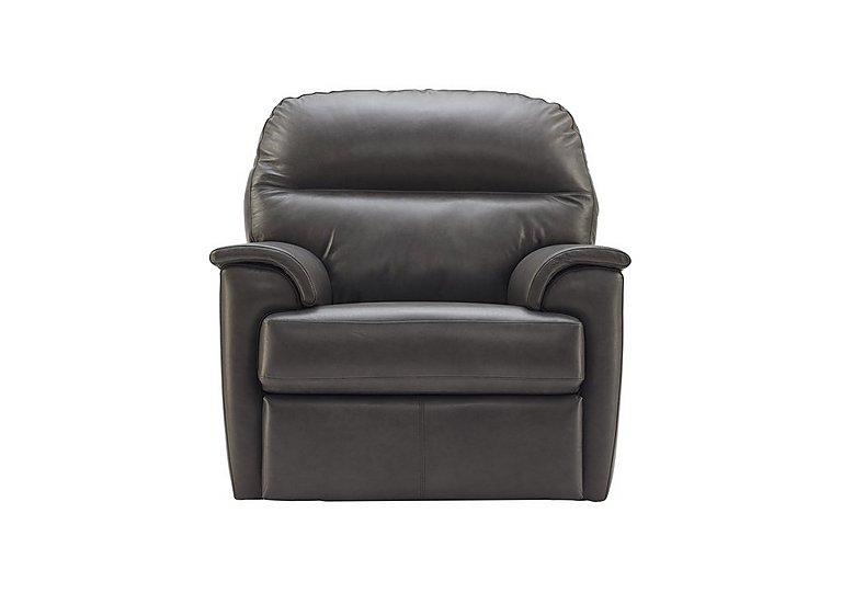 Watson Leather Recliner Armchair in N834 Dallas Slate on FV