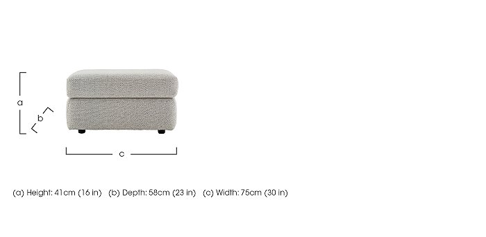 Watson Fabric Storage Footstool in  on FV