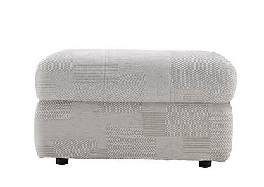 Watson Fabric Storage Footstool in C008 Checkers Putty on FV