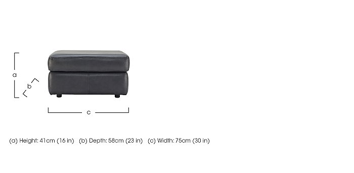 Watson Leather Storage Footstool in  on FV