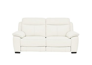 Starlight Express 2 Seater Leather Recliner Sofa in Nc-744d Star White on FV