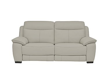 Starlight Express 3 Seater Leather Recliner Sofa in Bv-946b Silver Grey on FV