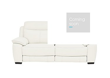 Starlight Express 3 Seater Leather Recliner Sofa in Nc-744d Star White on FV