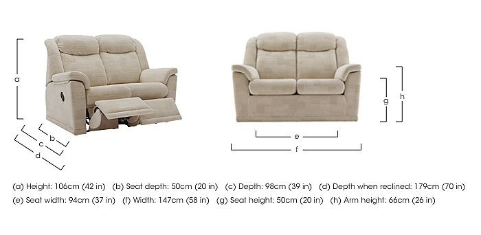 Milton 2 Seater Fabric Sofa in  on FV