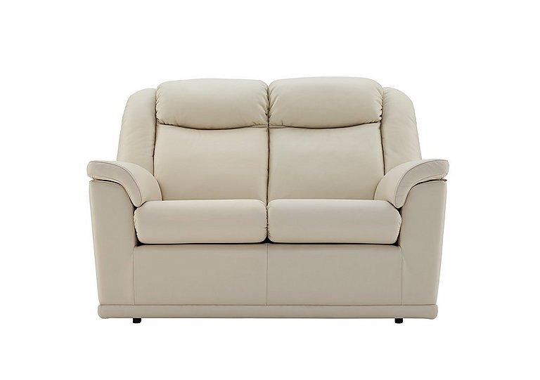Milton 2 Seater Leather Sofa in Capri Stone on FV