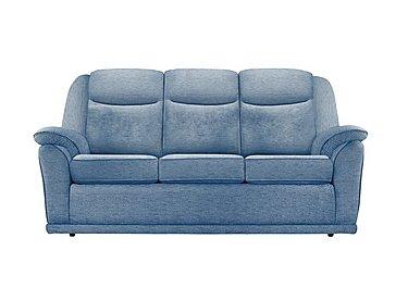 Milton 3 Seater Fabric Sofa in A086 Boucle Denim on Furniture Village