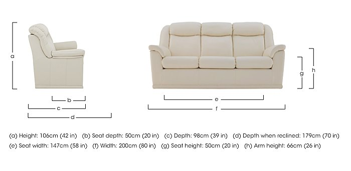 Milton 3 Seater Leather Sofa in  on FV