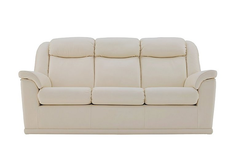 Milton 3 Seater Leather Sofa in P231 Capri Stone on FV