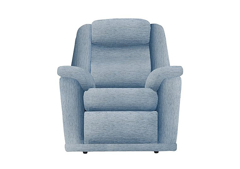 Milton Fabric Recliner Armchair in A086 Boucle Denim on Furniture Village