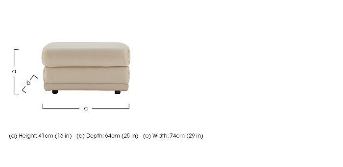 Milton Leather Storage Footstool in  on Furniture Village