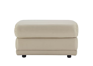 Milton Leather Storage Footstool in P231 Capri Stone on FV