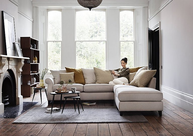 Furniture Village Guildford sahara 2 seater scatter back fabric sofa - furniture village