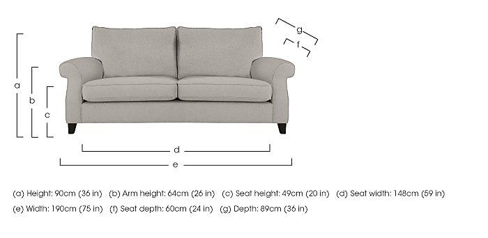 Sahara 3 Seater Fabric Sofa in  on Furniture Village