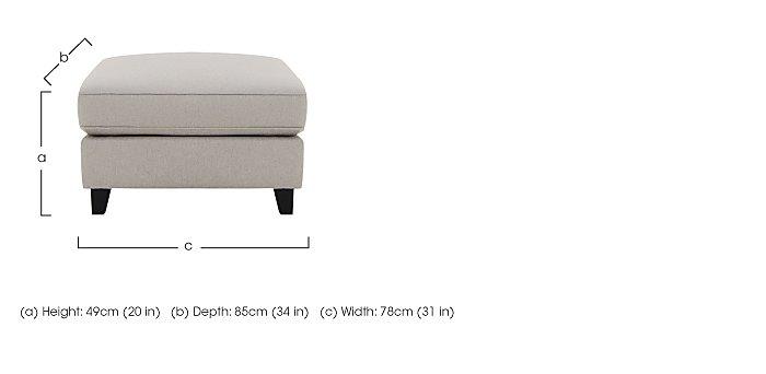 Sahara Fabric Footstool in  on Furniture Village
