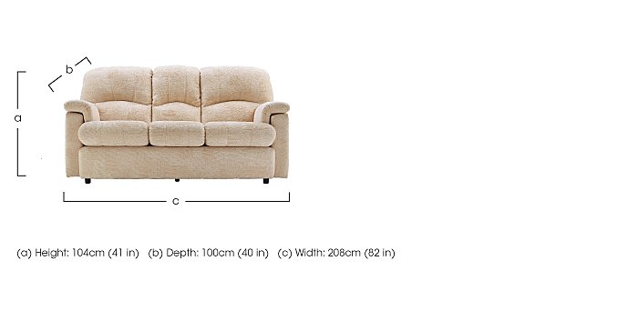 Chloe 3 Seater Fabric Sofa - Only One Left! in  on FV
