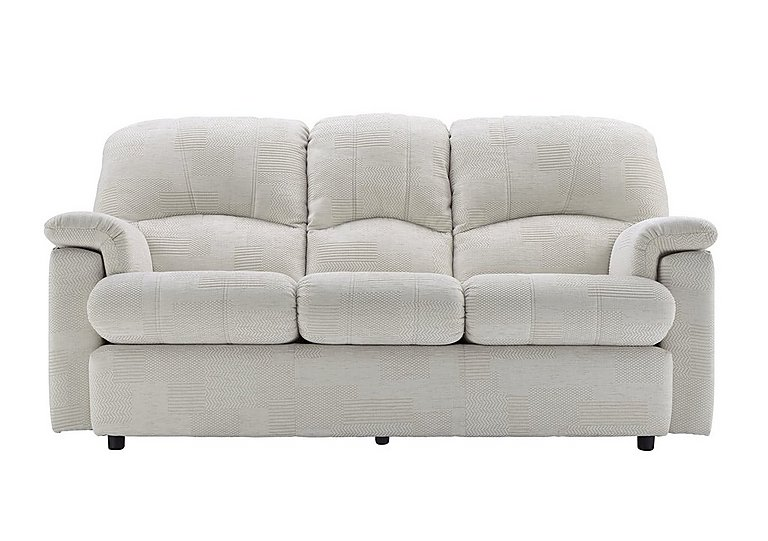Chloe 3 Seater Fabric Sofa - Only One Left! in C008 Checkers Putty on FV