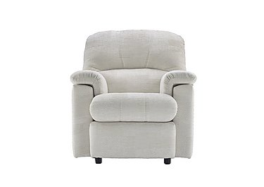 Chloe Small Fabric Recliner Armchair - Only One Left! in C008 Checkers Putty on FV