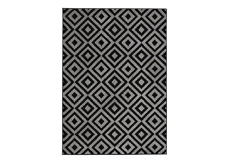 Matrix Rug in Black on Furniture Village