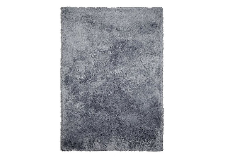 Nuzzle Deep Pile Rug in Blue on Furniture Village