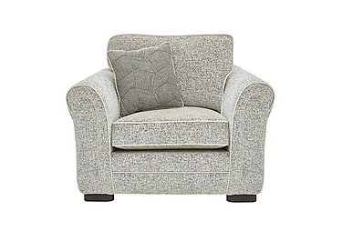 Devlin Fabric Armchair in Buzz Plain Marble Dk on FV