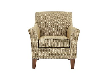 High Street Fabric Accent Armchair in Octave Ochre on FV