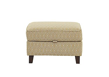 High Street Fabric Footstool in Octave Ochre on Furniture Village