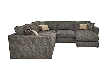 Nirvana Fabric Corner Sofa in Silvado Silver on FV