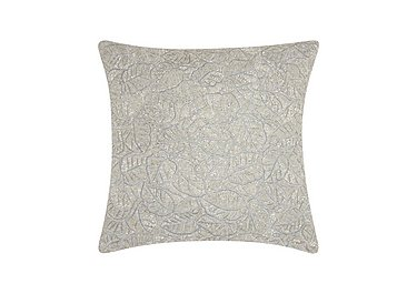 Beaded Leaves Cushion Silver in Silver on FV