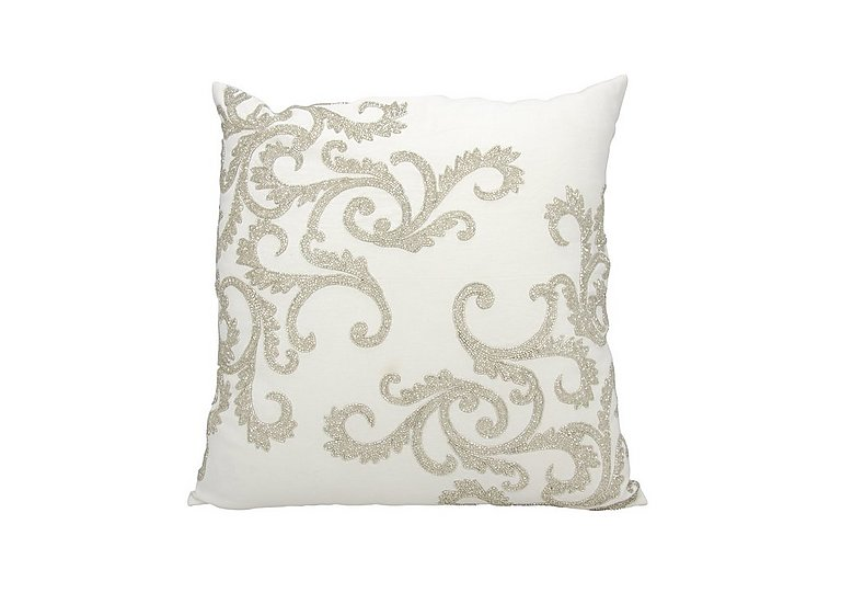 Beaded Corner Scroll Cushion
