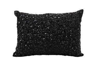 Beaded Cushion Black in Black on FV