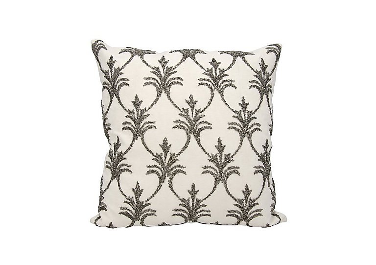 Fleur de Lis Cushion in Pewter on FV