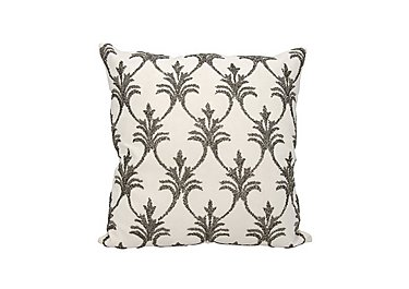 Fleur de Lis Cushion in Pewter on FV