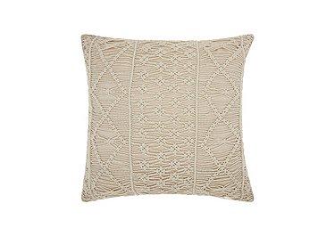 Macrame Cushion in Silver on FV