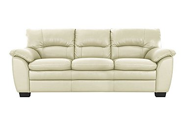 Blaze 3 Seater Leather Sofa - Only One Left! in Bv004c Bone on FV