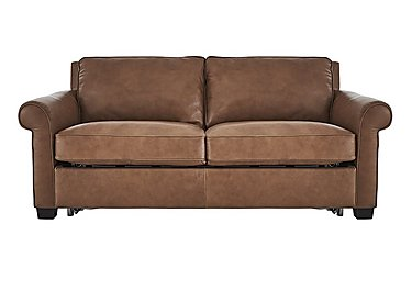 Campania 3 Seater Leather Sofa Bed - Only One Left! in Bari 10yn Sambuco on Furniture Village