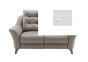 Pip 2 Seater Leather Recliner Sofa in P311 Dreams Fog on FV