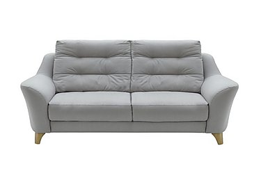 Pip 3 Seater Fabric Recliner Sofa in C242 Brush Pewter on Furniture Village