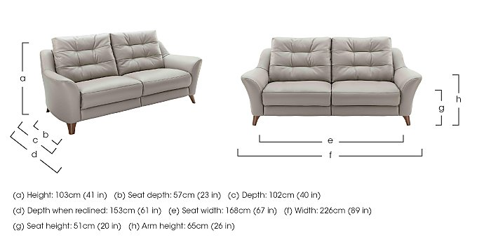 Pip 3 Seater Leather Recliner Sofa in  on Furniture Village