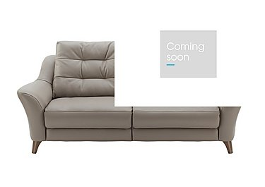 Pip 3 Seater Leather Recliner Sofa in P311 Dreams Fog on FV